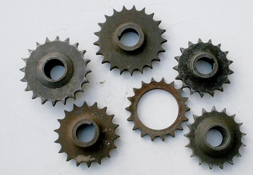 Norton single cylinder engine sprockets