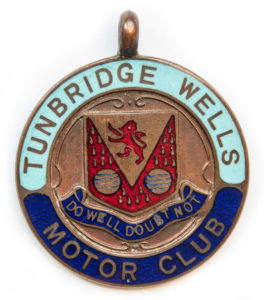 Early Motoring Club badges and medals for sale at Spa Cottage Collectables