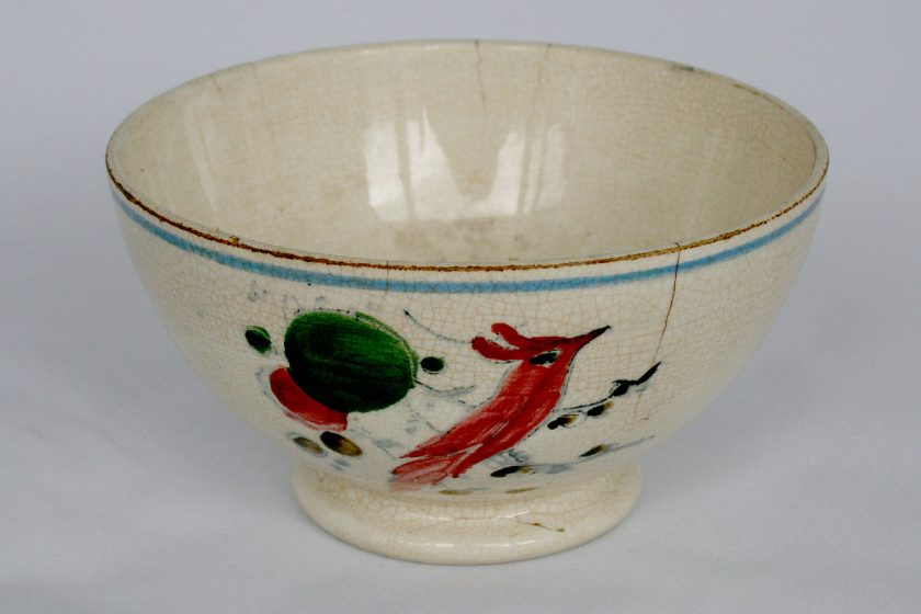 Staffordshire Spongeware Bowl circa 1750