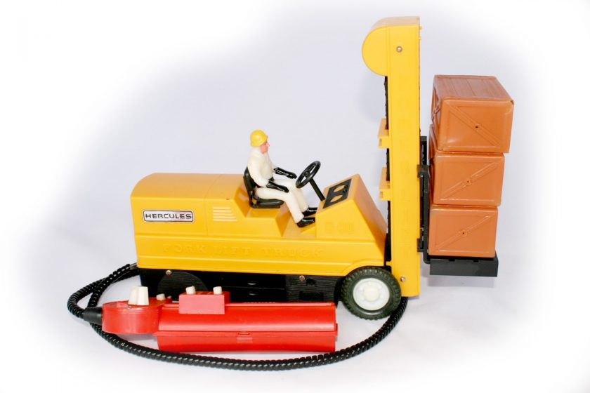 Palitoy battery operated fork lift truck