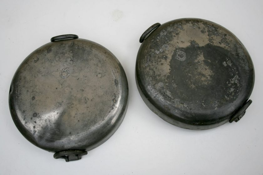 Georgian Pewter Plate Warmers