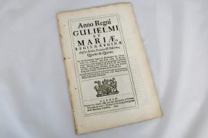 William & Mary Act of Parliament 1692 for sale