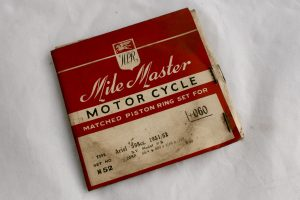 Ariel VB 600cc motorcycle piston rings for sale ar Spa Cottage Collectables
