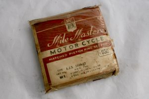 AJS 500cc Twin piston rings for sale at Spa Cottage Collectables