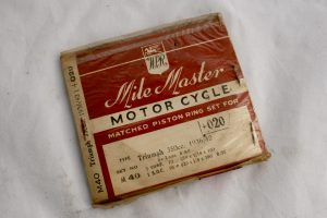 Triumph 350cc single piston rings for sale at Spa Cottage Collectables