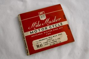 Velocette MSS piston rings for sale at Spa Cottage Collectables