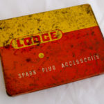 Vintage Lodge Spark Plugs Tin