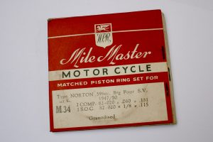 NortonBig Four piston rings for sale at Spa Cottage Collectables