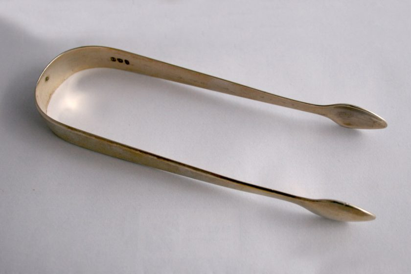 Georgian Solid Silver Sugar Tongs Hallmarked London 1803