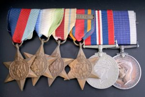Medal Group and Artifacts to D J Coleman HMS Tyne Hiroshima Spa Cottage Collectables