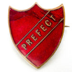 Vintage School Prefects Enamel Pin Badge