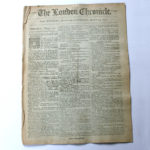 The London Chronicle Newspaper August 10-13 1793