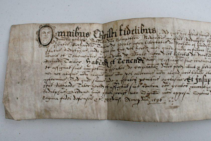Vellum Manuscript in Latin Dated 1596 for sale