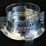 European Secessionist Dish With Glass Bowl