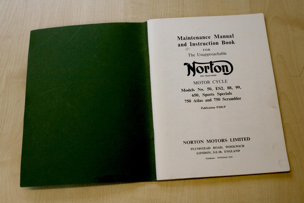 1956 Norton Maintance Manuel et Instruction Livre pour Modèles Numéro 88 /& 99